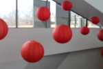 The Chinese lanterns hang above the gallery at the Nelson-Atkins' Art Museum in preparations of the Chinese New Year